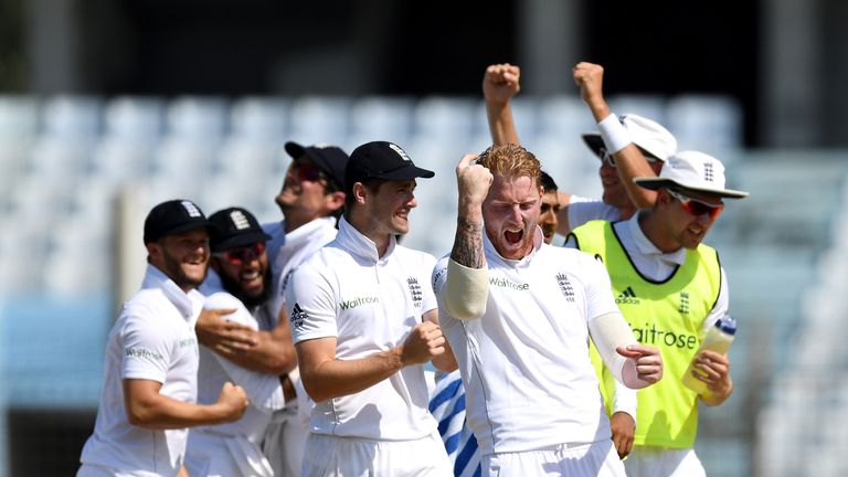 Ben Stokes (C) was instrumental in England's opening Test win in Chittagong