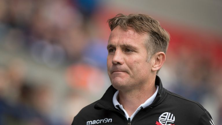 Phil Parkinson, manager of Bolton Wanderers