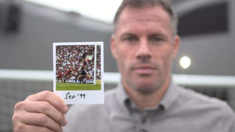 Jamie Carragher hold September 1999 photo