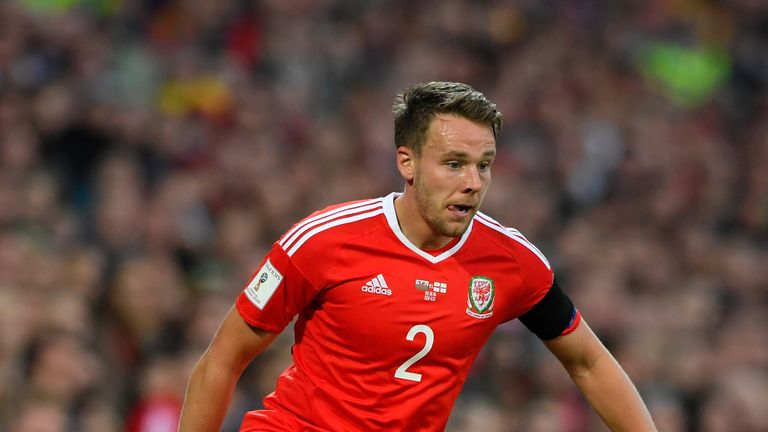 Chris Gunter in action for Wales