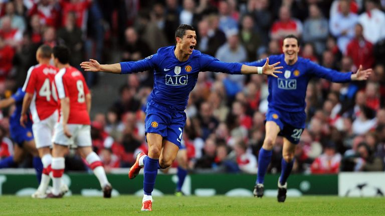 Cristiano Ronaldo scored twice as Manchester United won 3-1 at the Emirates to knock Arsenal out in the last four of the Champions League