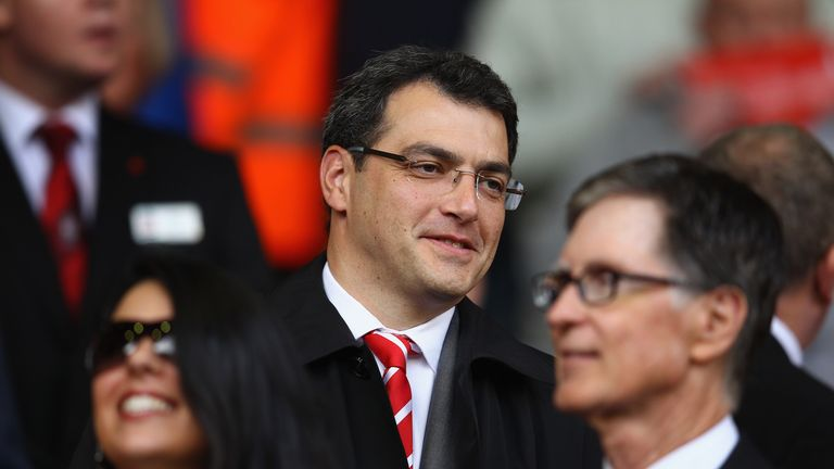 LIVERPOOL, ENGLAND - NOVEMBER 05:  Damien Comolli, Director Of Football for Liverpool during the Barclays Premier League match between Liverpool and Swanse