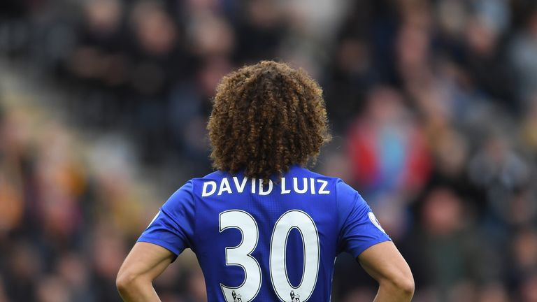 David Luiz was in the thick of the action against Leicester