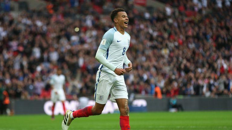 Dele Alli scored England's second goal against Malta