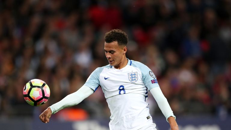 England's Dele Alli shows his frustration after missing a chance during the 2018 FIFA World Cup Qualifying match at Wembley Stadium, London.