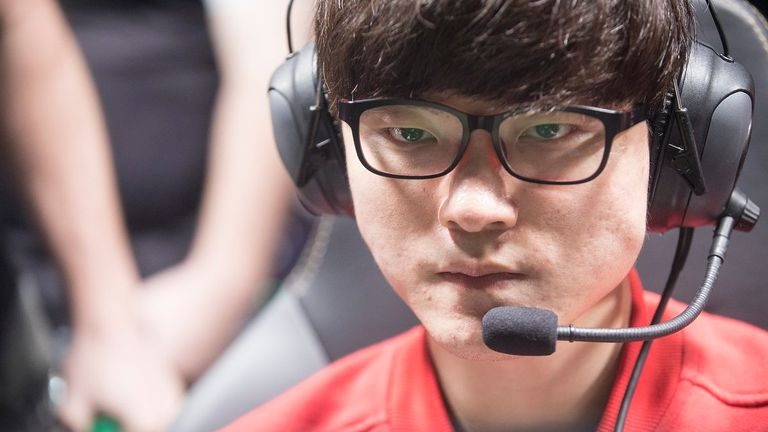 SKT's talisman 'Faker' has his eyes on the prize during the final