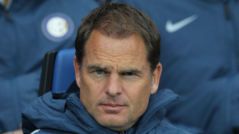 BERGAMO, ITALY - OCTOBER 23:  FC Internazionale Milano coach Frank de Boer looks on before the Serie A match between Atalanta BC and FC Internazionale at S