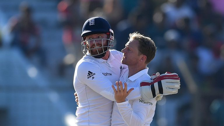Jonny Bairstow (L) had an excellent series behind the stumps in tricky sub-continet conditions
