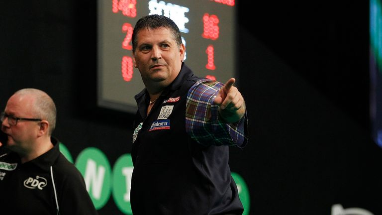 Gary Anderson is into a first World Grand Prix final and will face Michael van Gerwen