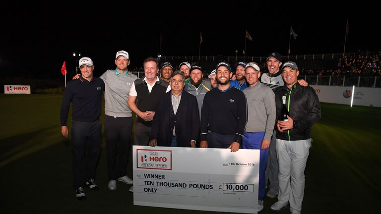 Levy earned £10,000 for winning the Hero Challenge ahead of the British Masters