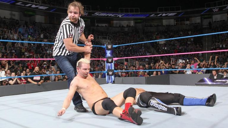 James Ellsworth was to find Dean Ambrose doing his best to upset the odds again