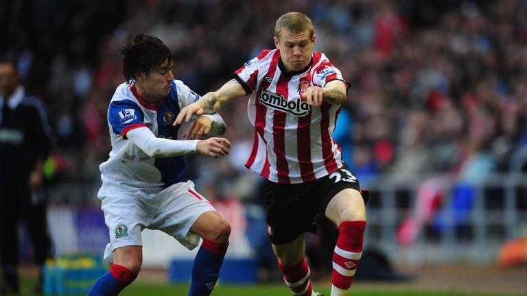 James McClean made his Sunderland league debut against Blackburn