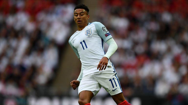 Jesse Lingard made his England debut