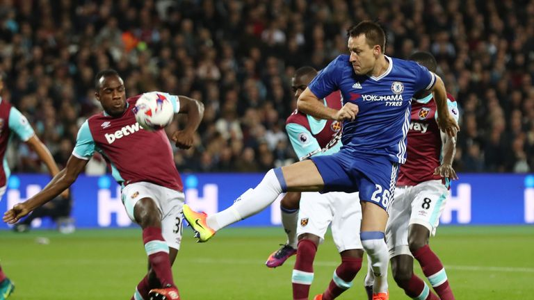 John Terry returned to action for Chelsea against West Ham