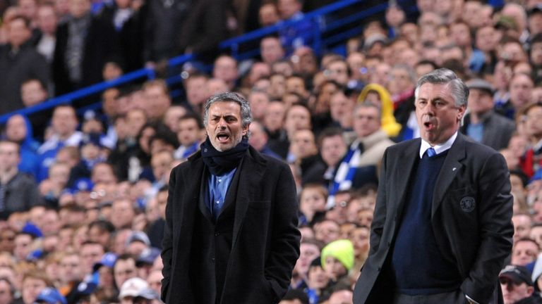 Jose Mourinho returned to Stamford Bridge as Inter Milan manager in 2010