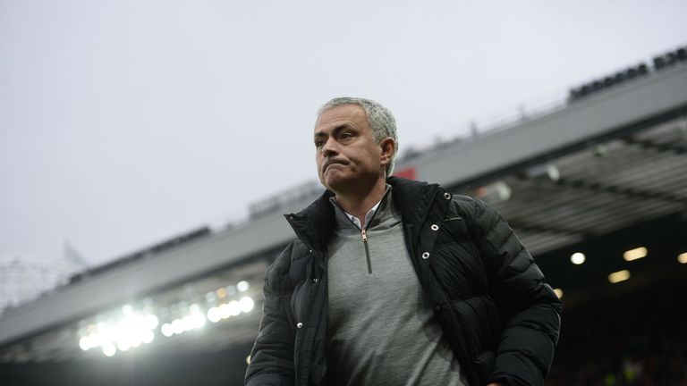 Jose Mourinho was sent to the stands during Manchester United's goalless draw with Burnley
