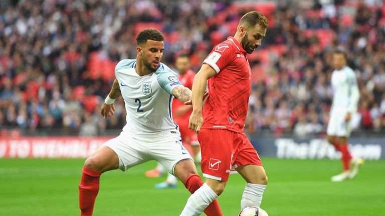 during the FIFA 2018 World Cup Qualifier Group F match between England and Malta at Wembley Stadium on October 8, 2016 in London, England.