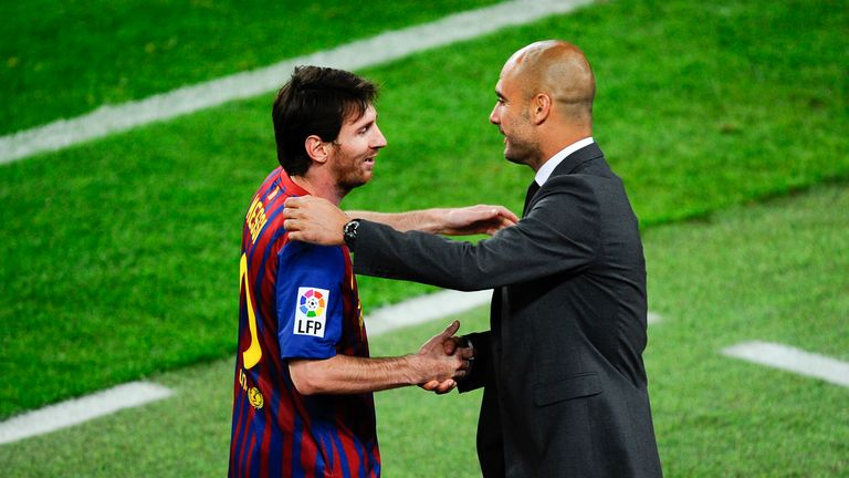 Lionel Messi and Guardiola enjoyed incredible success together at Barcelona