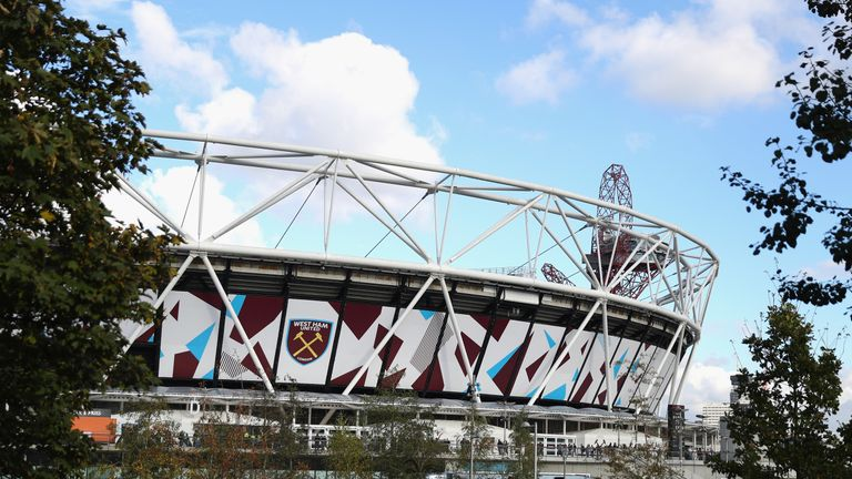 LONDON, ENGLAND - OCTOBER 22:  A general view of the stadium prior to the Premier League match between West Ham United and Sunderland at Olympic Stadium on