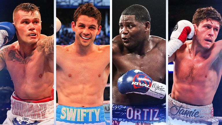 (L-R) Martin Murray, Stephen Smith, Luis Ortiz and Jamie McDonnell