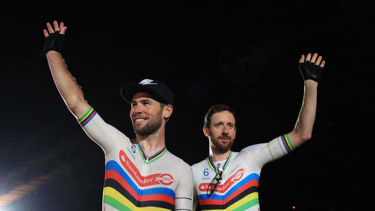 Cavendish (left) funded his own race programme and successfully reached the target of 250 qualifying points at a race in Switzerland last month