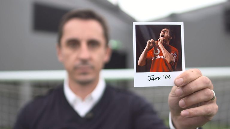 Gary Neville holds January 2006 picture