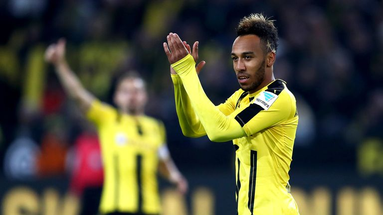 Pierre-Emerick Aubameyang during the match between Borussia Dortmund and Hertha BSC
