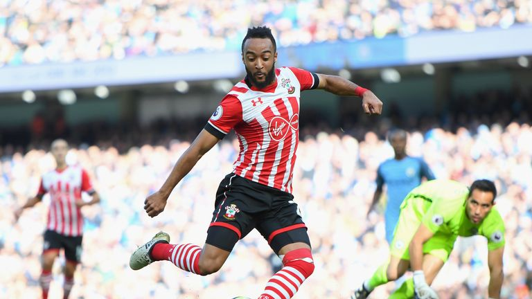 Nathan Redmond scores the opening goal for Southampton