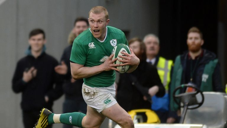 Keith Earls scored the second try against Scotland in Dublin last year