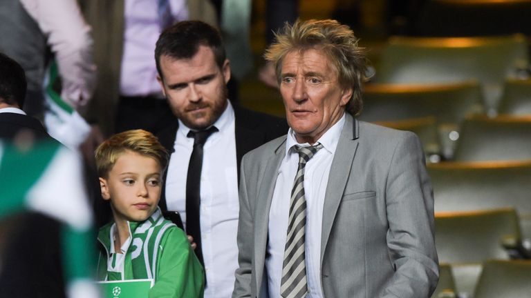 Rod Stewart during Celtic's recent 3-3 draw with Manchester City