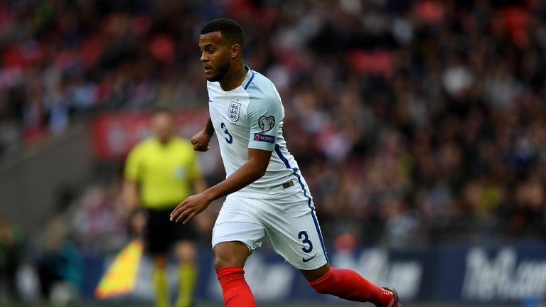 LONDON, ENGLAND - OCTOBER 08:  Ryan Bertrand of England in action during the FIFA 2018 World Cup Qualifier Group F match between England and Malta at Wembl