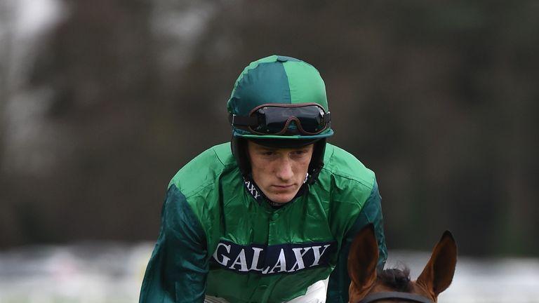 BallyBolley ridden by jockey Sam Twiston-Davies goes to post at Ascot in December 2015.