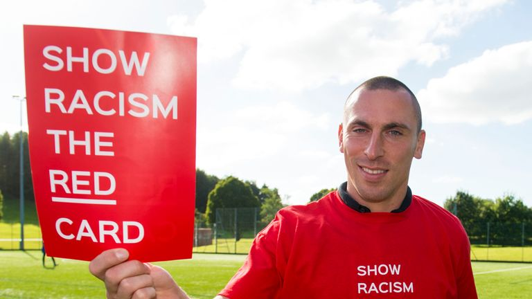 Brown helps to promote Show Racism The Red Card