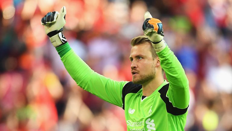 Simon Mignolet during the International Champions Cup match against Barcelona