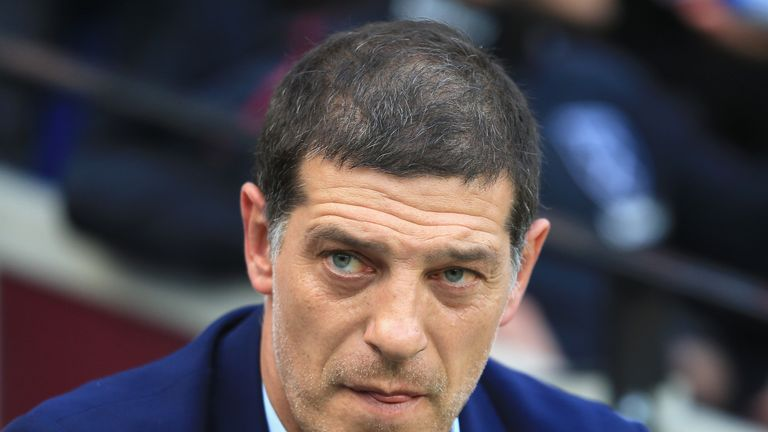 LONDON, ENGLAND - OCTOBER 22:  Slaven Bilic, Manager of West Ham United looks on  during the Premier League match between West Ham United and Sunderland at