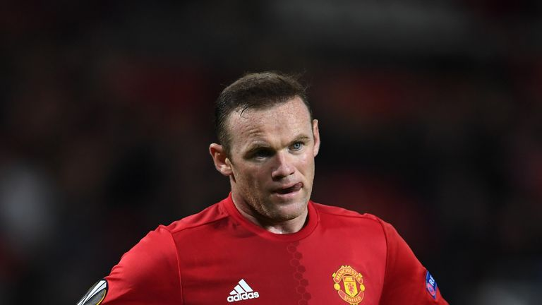 MANCHESTER, ENGLAND - OCTOBER 20:  Wayne Rooney of Manchester United looks on during the UEFA Europa League Group A match between Manchester United FC and