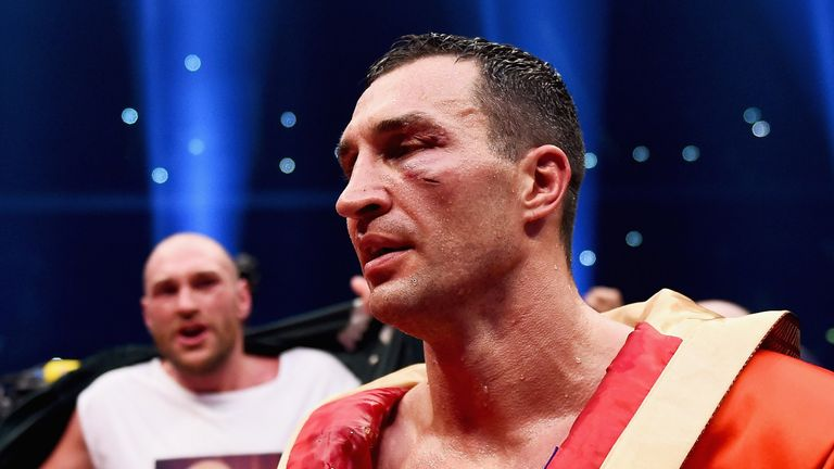 Wladimir Klitschko is seen after loosing his IBF/IBO/WBA/WBO World Heavyweight titles to Tyson Fury
