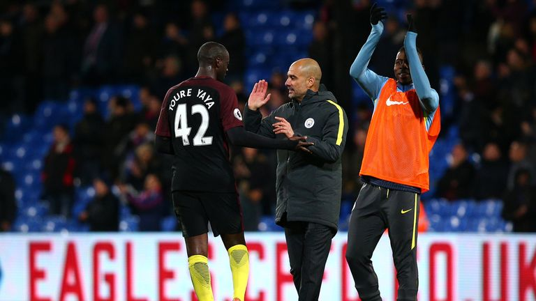 Toure is back in the first-team picture under Pep Guardiola
