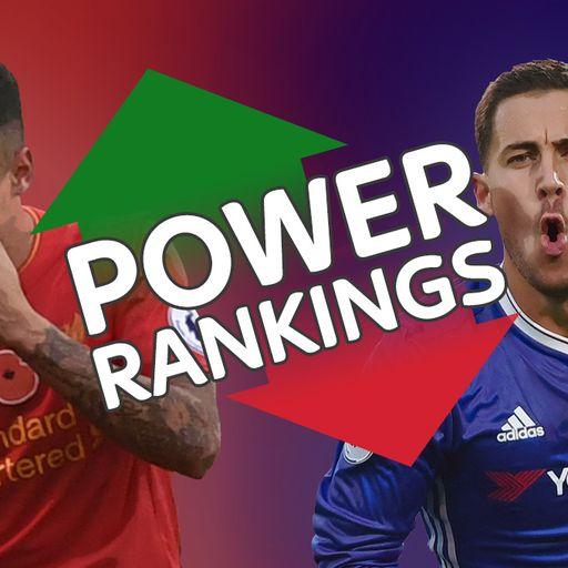 Liverpool, Chelsea dominate rankings