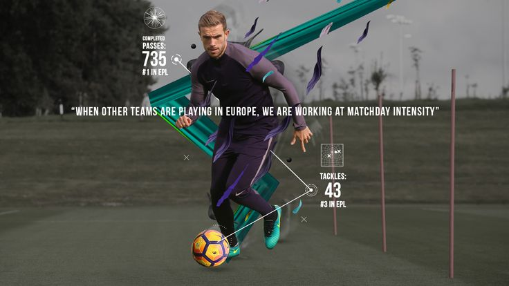 Liverpool's Jordan Henderson trains fast in Nike Football Training apparel, built for speed with revolutionary AeroSwift technology