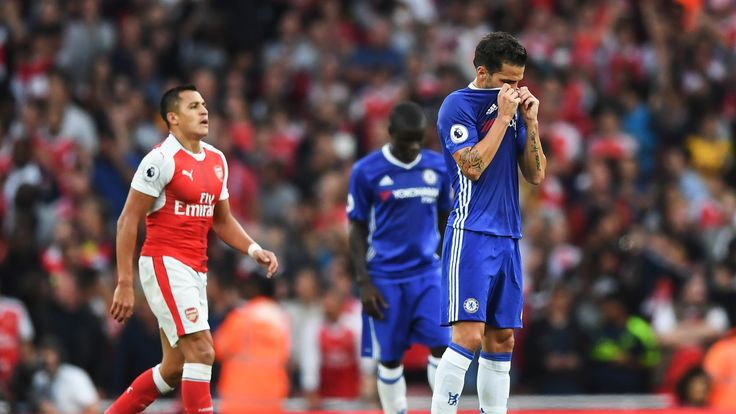 Cesc Fabregas appears dejected following Arsenal's goal in the game at the Emirates Stadium