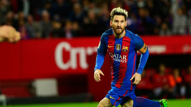Lionel Messi was in fine form Barcelona in their narrow win over Sevilla