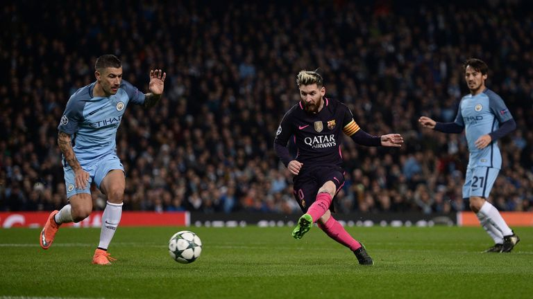 Lionel Messi opens the scoring