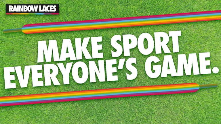 'Make sport everyone's game' - Rainbow Laces campaign, Stonewall