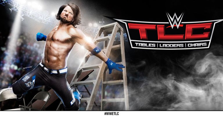 AJ Styles will compete in a TLC Match in Dallas on Sunday night