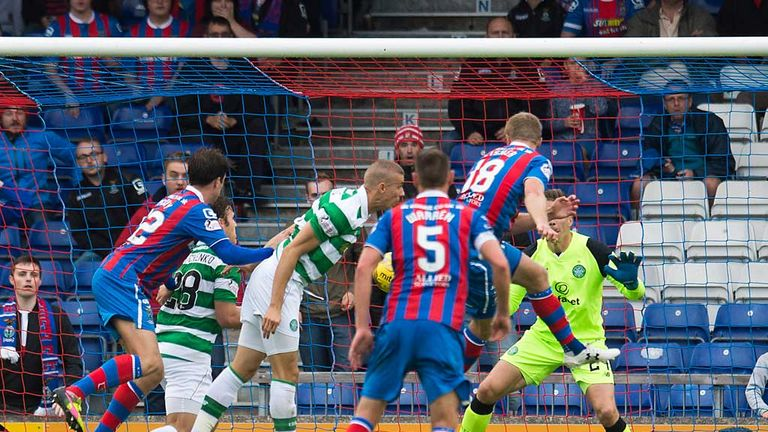 Alex Fisher scores a late goal as Inverness CT earn a 2-2 draw with Celtic