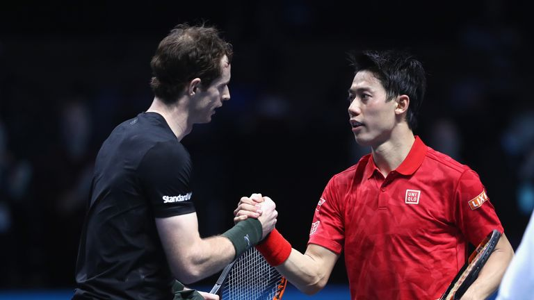 Andy Murray beat Kei Nishikori in a three hour and 20-minute marathon at the ATP World Tour Finals
