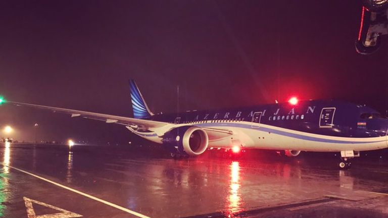 A Boeing 787 Dreamliner, the first of its kind to land in Northern Ireland.