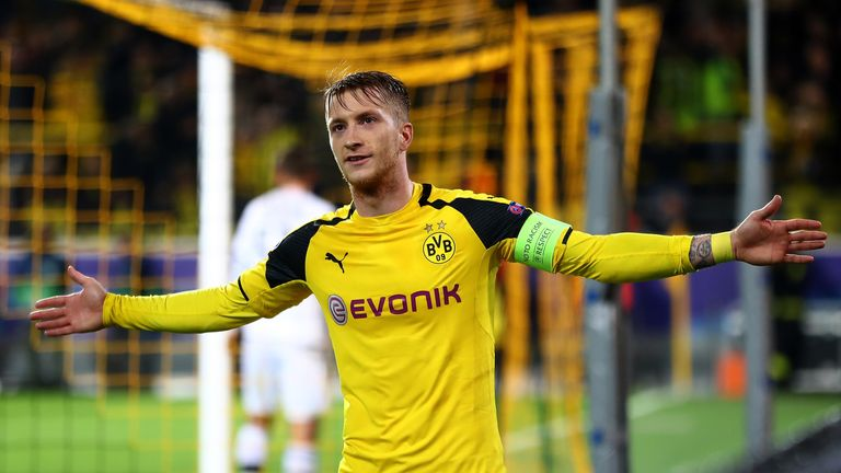 Marco Reus scored twice for Borussia Dortmund on Tuesday night