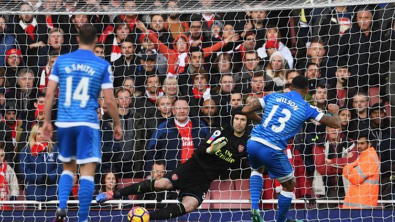 Callum Wilson scores Bournemouth's equaliser from the penalty spot